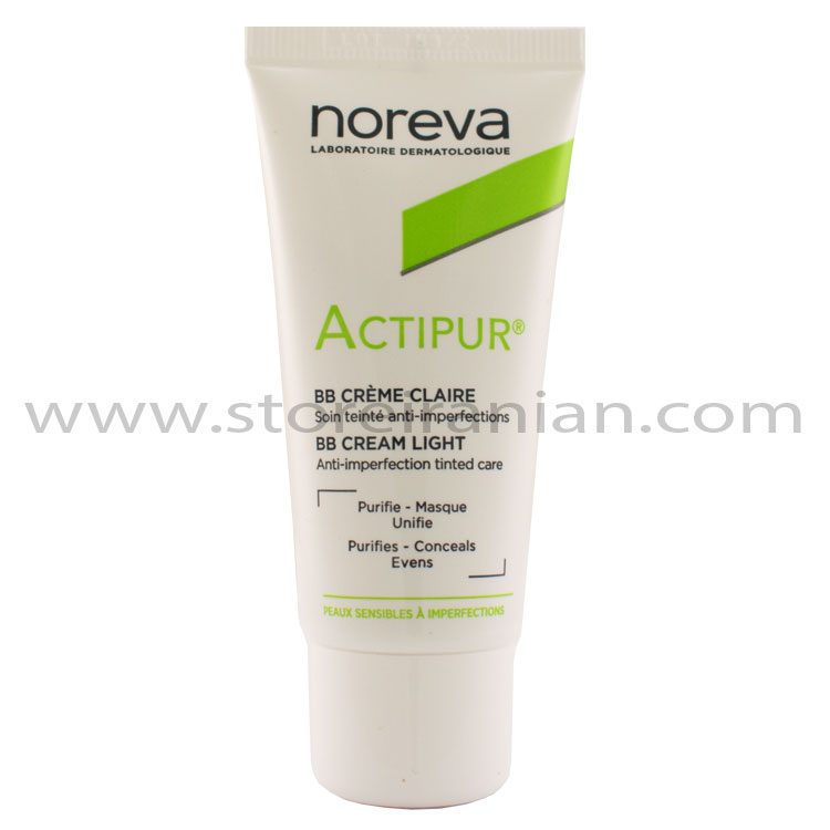 بی بی کرم ضد جوش رنگ روشن اکتی پور نوروا | Noreva Actipur Bright Color BB Cream
