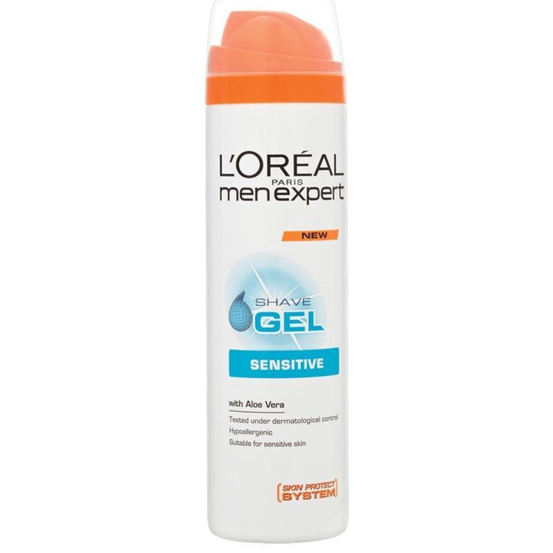 ژل اصلاح لورآل سري Men Expert مدل Sensitive حجم 200 ميلي ليتر | LOreal Men Expert Sensitive Shave Gel 200ml